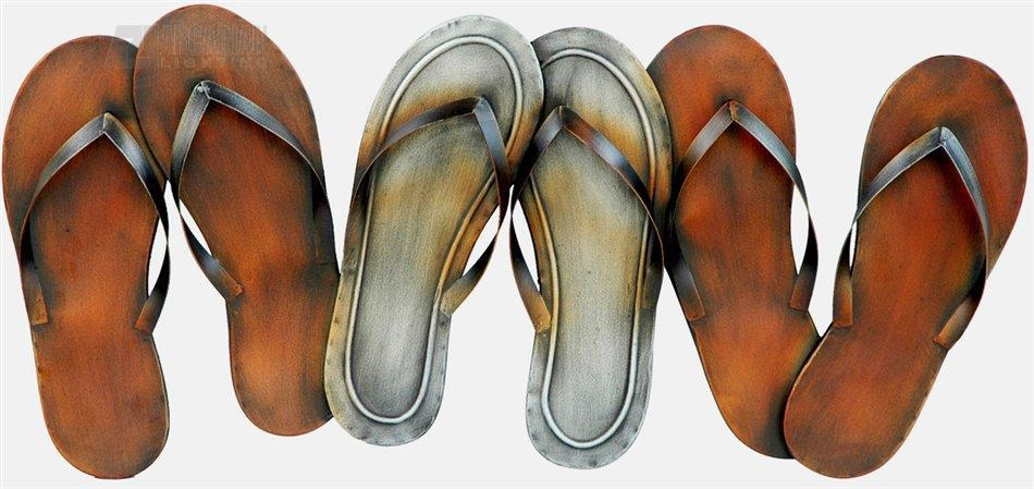 Crestview Collection Cvbwf133 Flip Flops Metal Wall Art / Wall With Flip Flop Wall Art (Image 8 of 20)