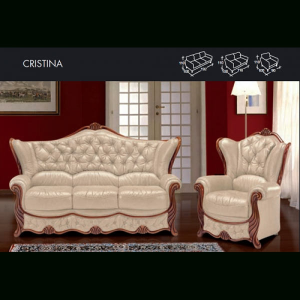 Cristina Genuine Italian Leather Sofa Within Italian Leather Sofas (View 15 of 20)