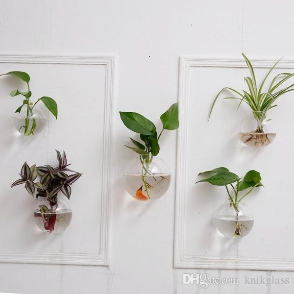 Crystal Glass Wall Planters,hanging Wall Air Plants Bread Inside Air Plant Wall Art (View 10 of 20)