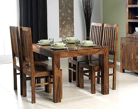 Cuba Sheesham Dining Table Large | Oak Furniture Solutions Intended For Newest Sheesham Dining Tables And 4 Chairs (Image 5 of 20)