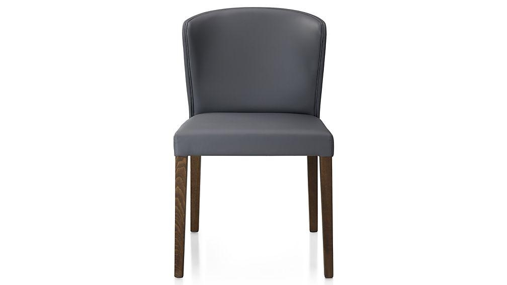 Curran Grey Dining Chair | Crate And Barrel Regarding Most Current Grey Dining Chairs (Image 8 of 20)