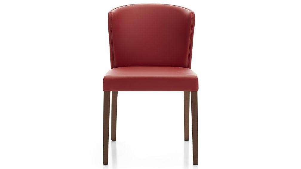 Curran Red Dining Chair | Crate And Barrel With Regard To 2018 Red Dining Chairs (View 9 of 20)