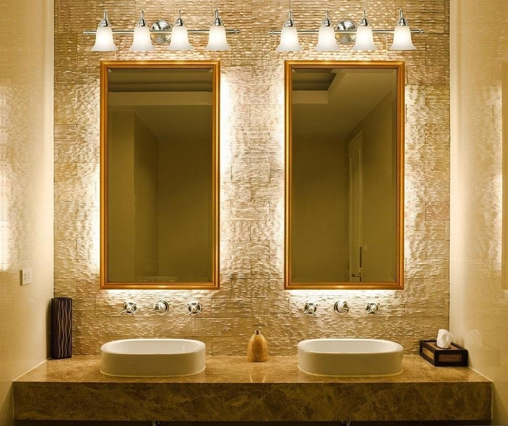 20 Best Collection of Fancy Bathroom Wall Mirrors | Mirror Ideas