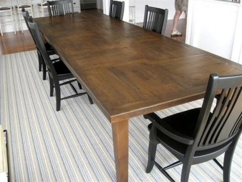 Custom 12'ft Rustic Oak Dining Table In Customer's Home In Best And Newest Rustic Oak Dining Tables (View 19 of 20)