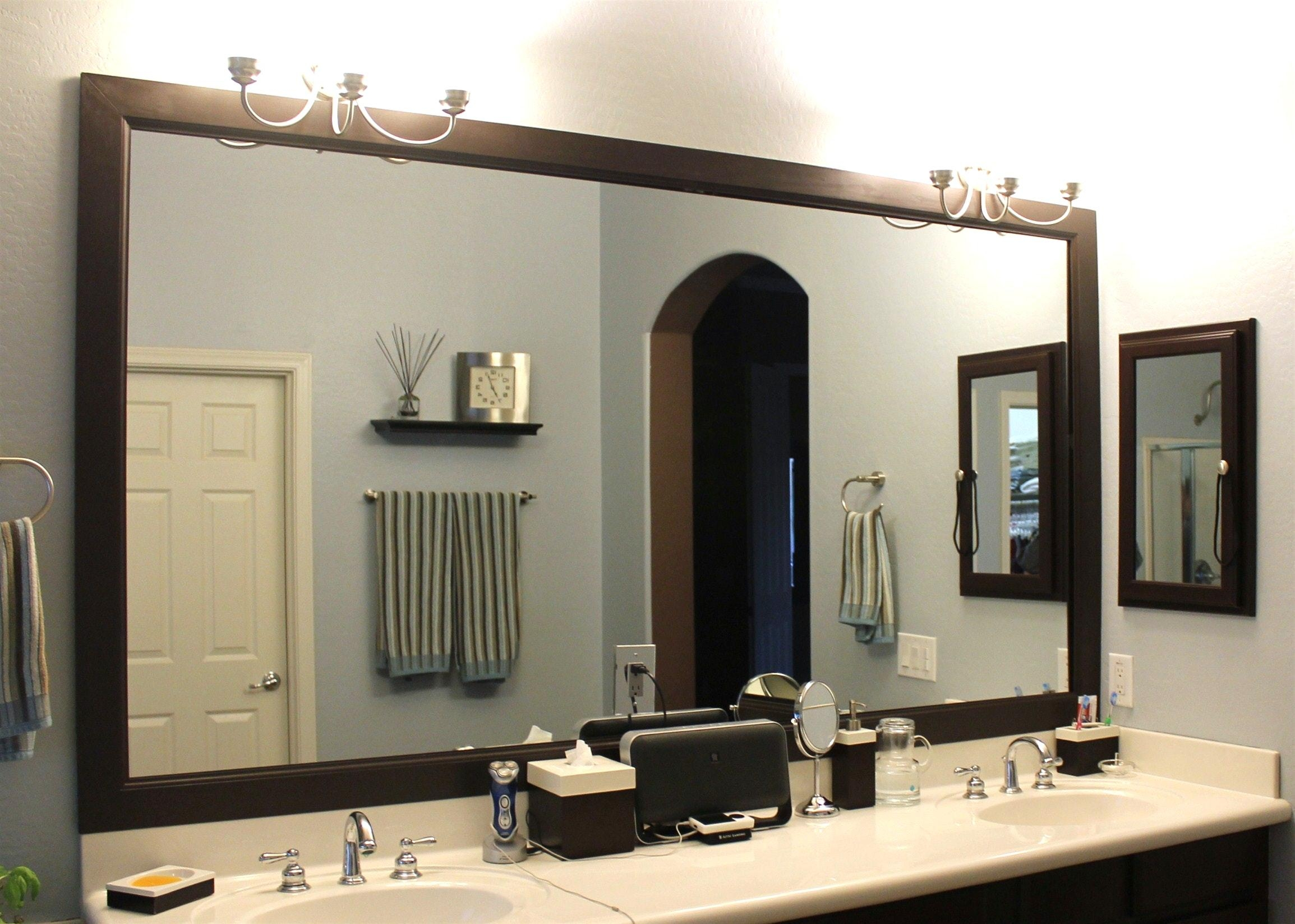 Custom Bathroom Mirror Frames Making At | Birdcages With Regard To Custom Bathroom Mirrors (Image 10 of 20)