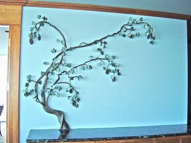 Custom Made Grape Vine, Fabricated Metal Sculpturejacob Dean Pertaining To Metal Grape Wall Art (View 3 of 20)