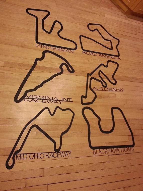 Custom Metal Race Track Art Man Cave Sculpture Plasma Cut Throughout Race Track Wall Art (Image 4 of 20)