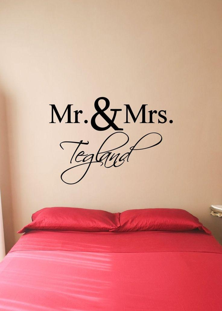 Custom Mr. & Mrs. Vinyl Decal – Mr. Mrs (Image 6 of 20)