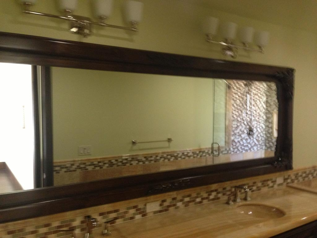 Custom Wood Framed Mirrors – Patriot Glass And Mirror | San Diego Ca Intended For Frames Mirrors (Photo 4 of 20)