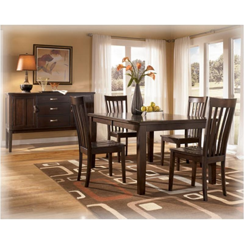 D505 35 Ashley Furniture Logan Rectangular Extension Table With Most Popular Logan Dining Tables (Image 4 of 20)