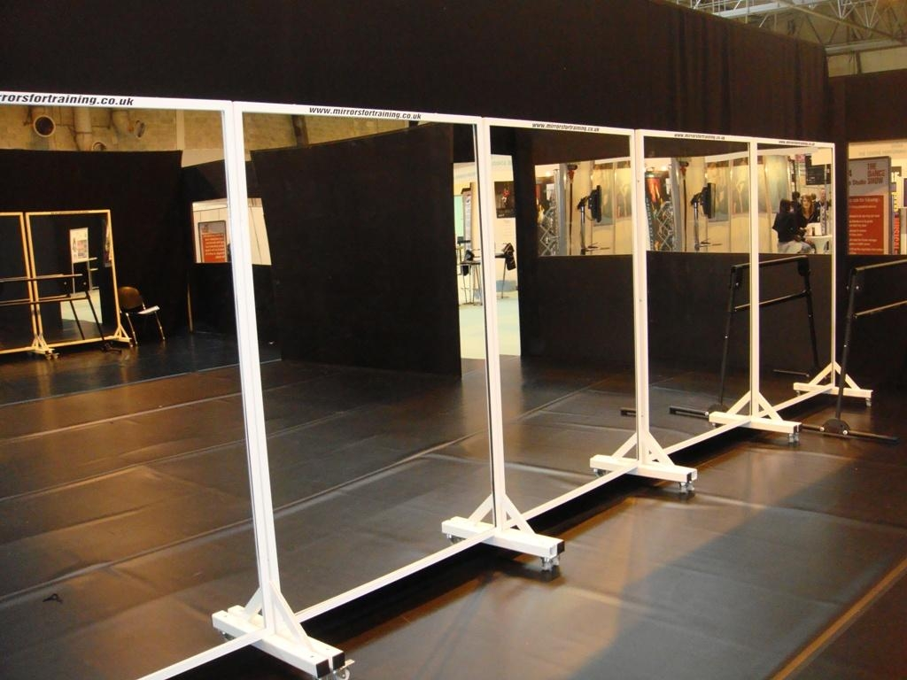 Dance Gym Studio Portable #mirrors On #wheels X2, View More On The For Movable Mirrors (Image 7 of 20)