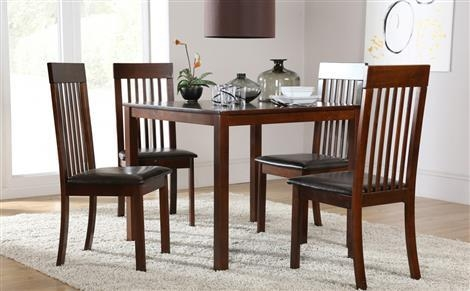 Dark Wood Dining Sets | Furniture Choice Intended For Most Current Dark Wood Square Dining Tables (Image 6 of 20)