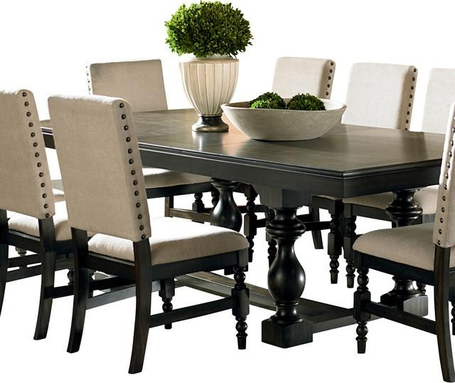 Dark Wood Dining Table | Houzz Throughout Latest Solid Dark Wood Dining Tables (Image 8 of 20)