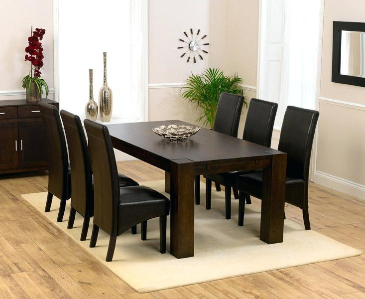 Dark Wood Dining Table – Letitgolyrics (Image 5 of 20)