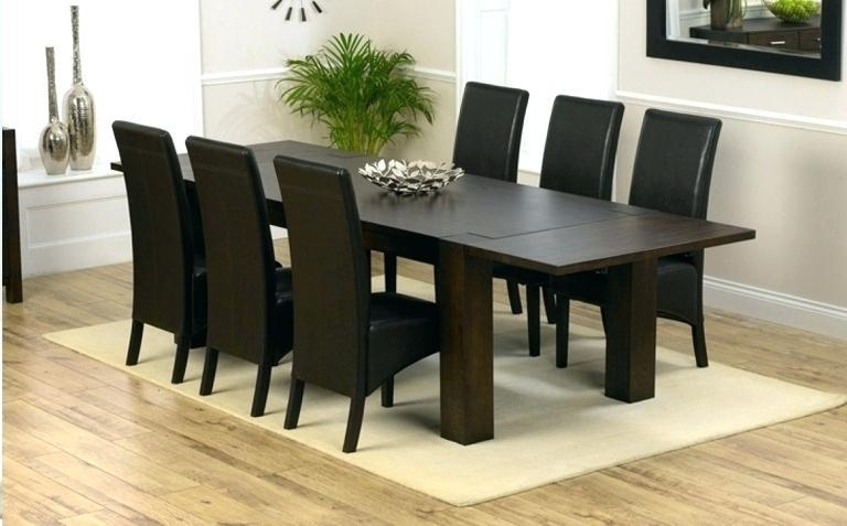 Dark Wood Dining Table Set – Mitventures (Image 6 of 20)