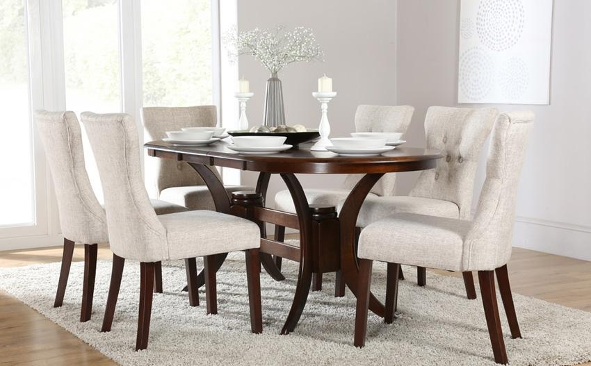 Dark Wood Dining Table With 6 Chairs – Insurserviceonline Pertaining To Most Popular Dark Wood Dining Tables 6 Chairs (Image 9 of 20)