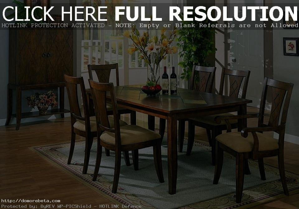 Dark Wood Dining Tables And Chairs – Insurserviceonline Pertaining To Most Current Dark Wood Dining Room Furniture (Image 15 of 20)
