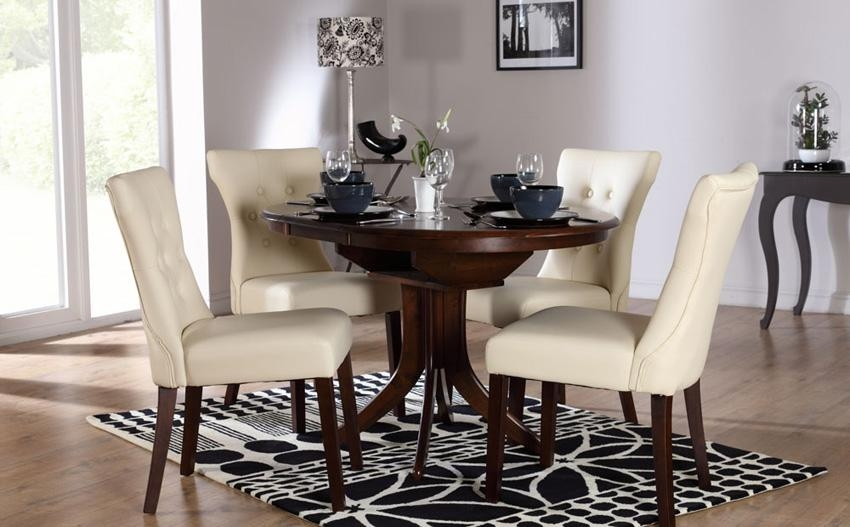 Dark Wood Round Dining Table And Chairs – Insurserviceonline Within Newest Dark Wood Dining Tables 6 Chairs (Image 10 of 20)