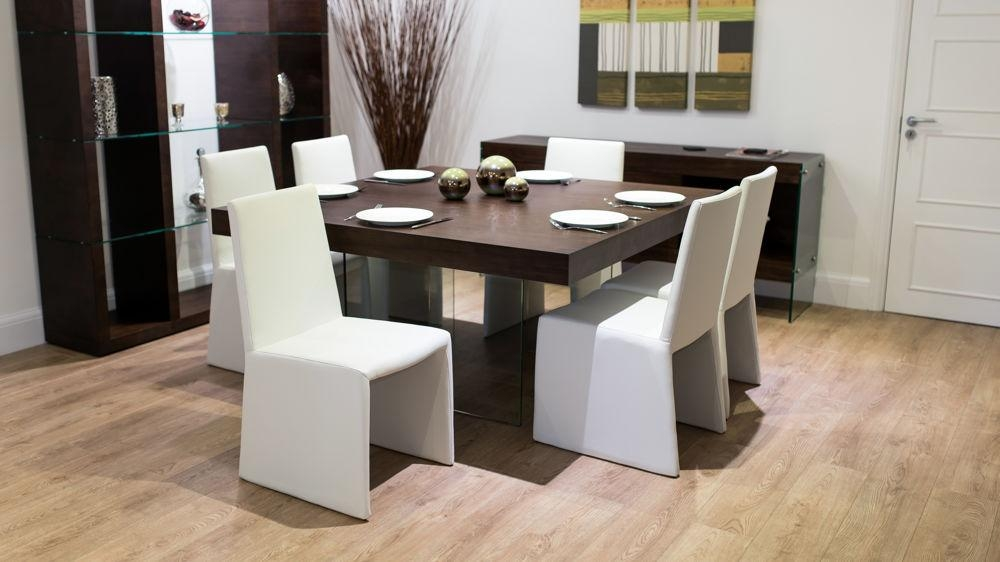 Dark Wood Square Dining Room Table – Insurserviceonline Throughout Latest Black 8 Seater Dining Tables (Image 10 of 20)