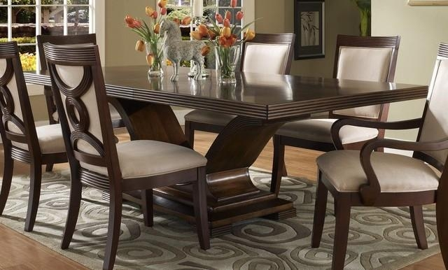 Dark Wooden Dining Tables Regarding Current Dark Wood Dining Tables (View 6 of 20)