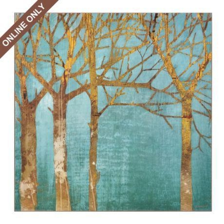 Featured Image of Teal And Gold Wall Art