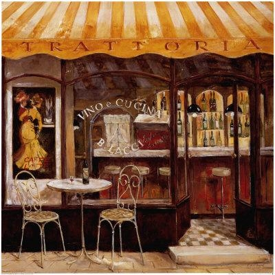 De Villeneuve Art Print – Italian Cafe With Regard To Italian Cafe Wall Art (Image 11 of 20)