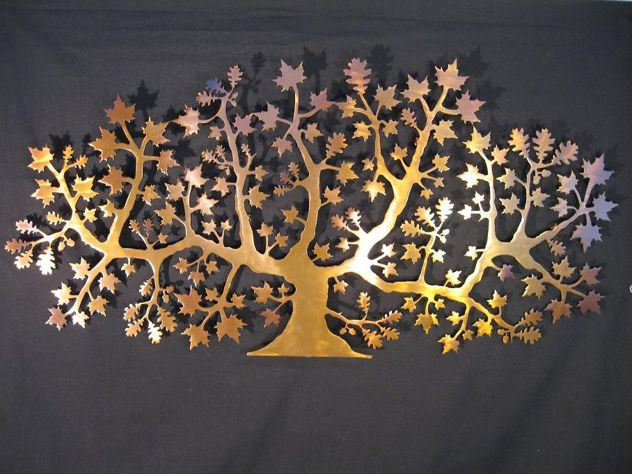 Decent And Elegant Metal Wall Art Pertaining To Copper Oak Tree Wall Art (Image 17 of 20)