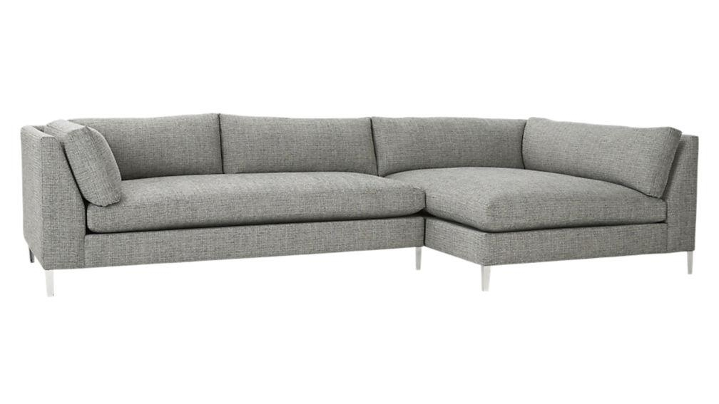 Decker Left Arm Wedge Sofa | Cb2 With Cb2 Piazza Sofas (View 18 of 20)