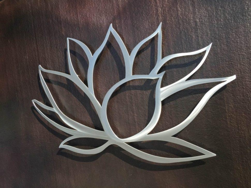 Decor : 38 Awesome Silver Metal Wall Art Flowers 22 About Remodel Intended For Silver Metal Wall Art Flowers (Image 10 of 20)