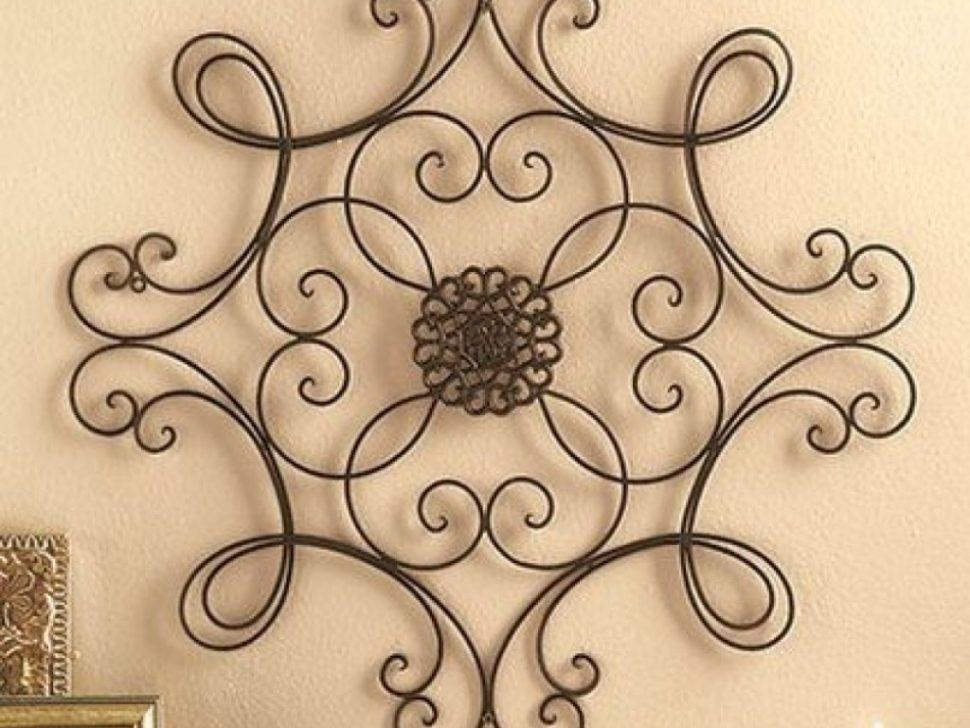 Decor : 6 Metal Wall Art Medallion Wrought Iron Home Decor Accent Within Metal Medallion Wall Art (Image 9 of 20)