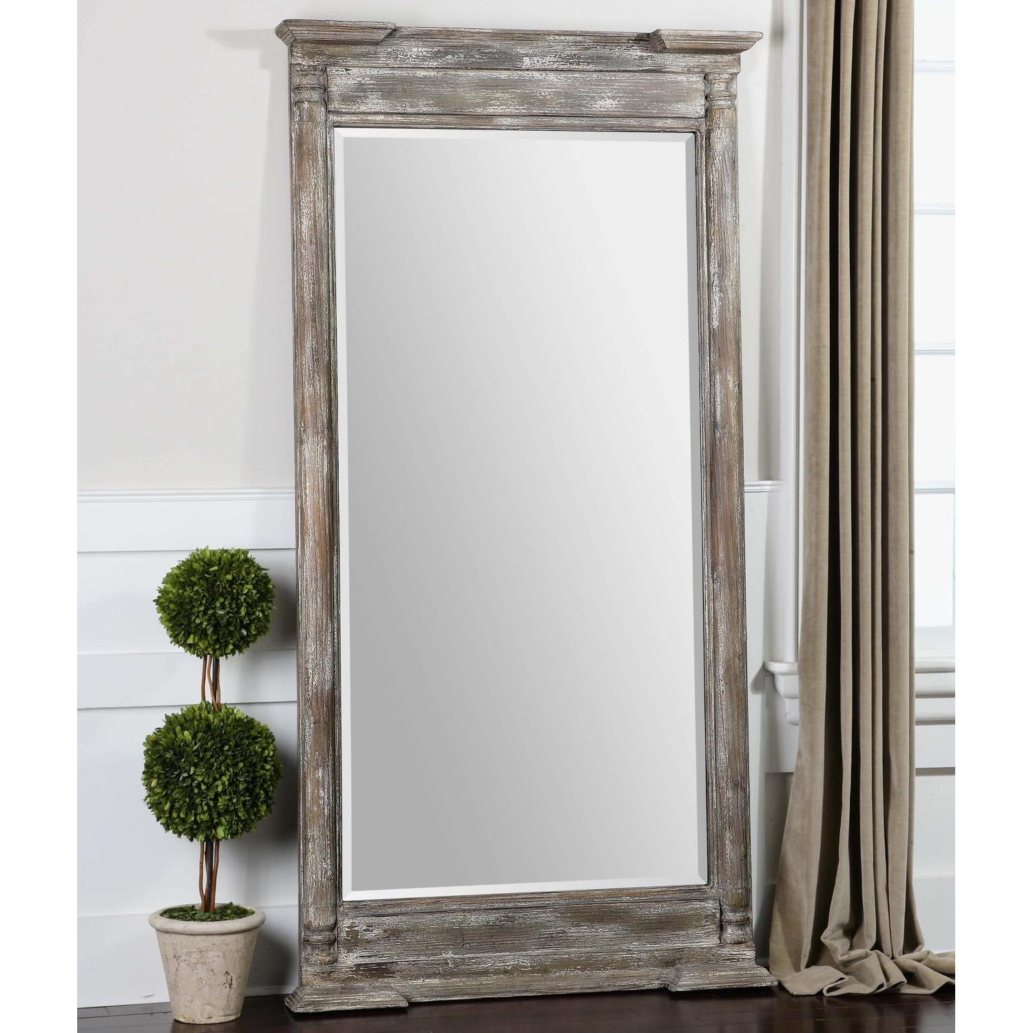 Decor: Leaning Floor Mirror For Interior Accessories Design Ideas Pertaining To Cheap Stand Up Mirrors (View 16 of 20)