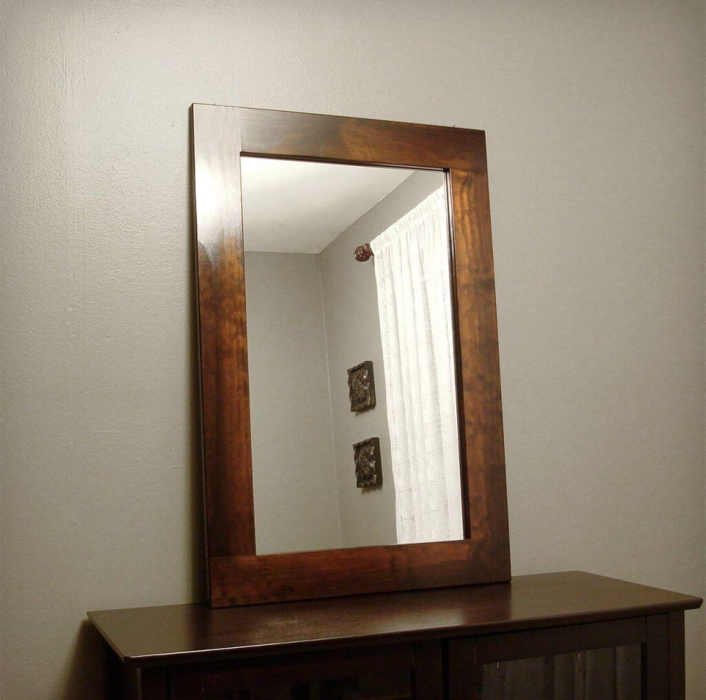 20 Ideas of Decorative Wooden Mirrors | Mirror Ideas