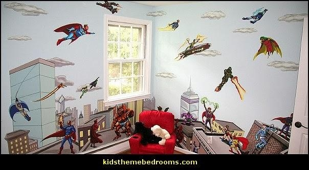 Decorating Theme Bedrooms – Maries Manor: Superheroes Bedroom Throughout Superhero Wall Art Stickers (Image 12 of 20)