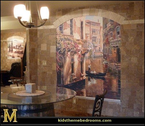 Decorating Theme Bedrooms – Maries Manor: Tuscany Vineyard Style For Italian Art Wall Murals (View 7 of 20)