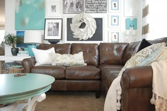 Decorating With A Brown Sofa Inside Brown Sofa Decors (Image 13 of 20)