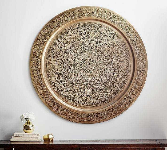 Decorative Metal Disc – Brass | Pottery Barn With Regard To Decorative Metal Disc Wall Art (Image 5 of 20)