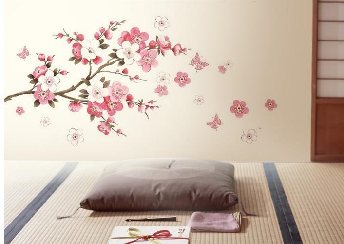 Decorative Stickers For Windows Picture – More Detailed Picture Intended For Cherry Blossom Vinyl Wall Art (Image 16 of 20)