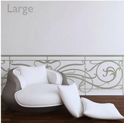 Decorative Wall Sticker – Art Nouveau Balustrade – Paristic For Art Deco Wall Decals (Image 12 of 20)