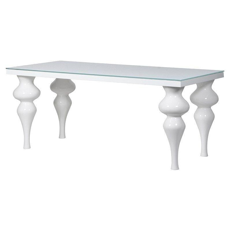 Delilah Small White High Gloss Dining Table Intended For Most Recently Released White High Gloss Dining Tables (Image 5 of 20)