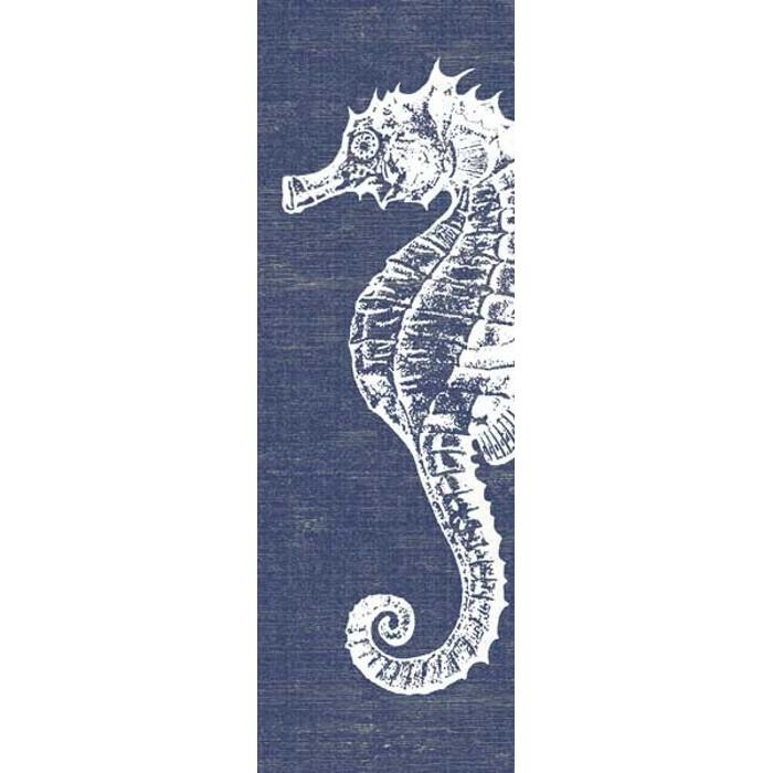 Denim Seahorse Wall Art With Sea Horse Wall Art (Image 8 of 20)