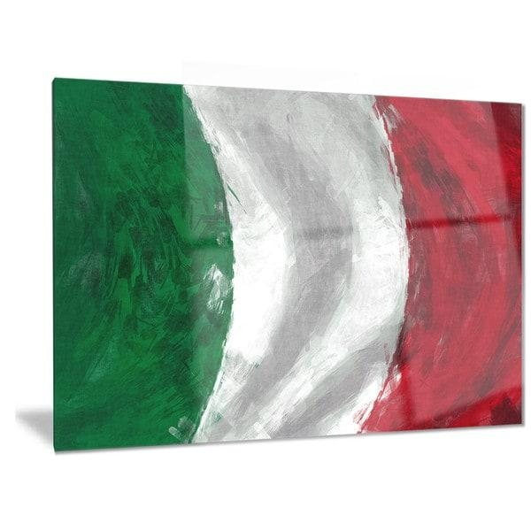 Designart 'italy Flag' Contemporary Metal Wall Art – Free Shipping Pertaining To Italian Flag Wall Art (Image 6 of 20)
