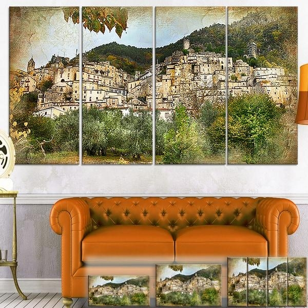 Designart 'old Italian Villages' Landscape Photography Canvas Wall Inside Old Italian Wall Art (Image 7 of 20)