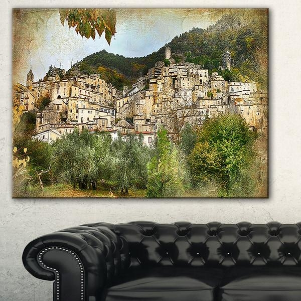 Designart 'old Italian Villages' Landscape Photography Canvas Wall Intended For Old Italian Wall Art (Image 8 of 20)