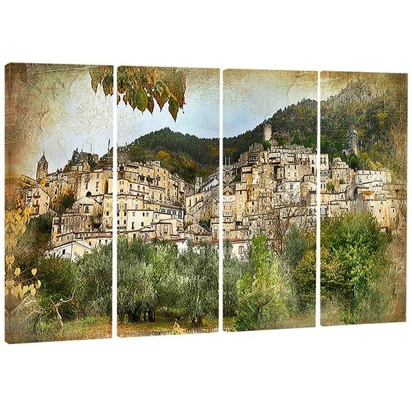 Designart 'old Italian Villages' Landscape Photography Canvas Wall With Regard To Old Italian Wall Art (Image 9 of 20)