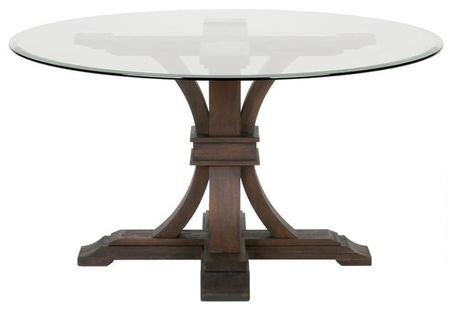 Devon Round Glass Dining Table – Traditional – Dining Tables – Inside Most Current Java Dining Tables (Image 11 of 20)