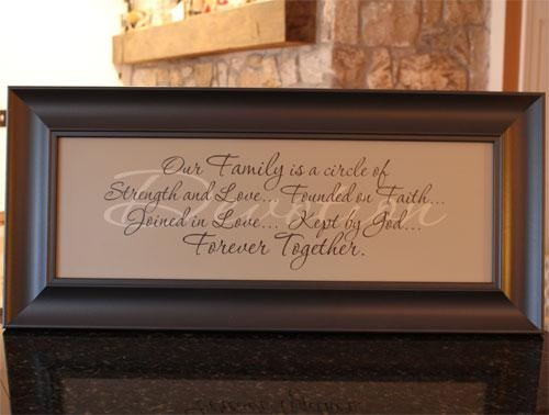 Devotion Our Family Framed Christian Art – Christian Regarding Christian Framed Wall Art (View 6 of 20)