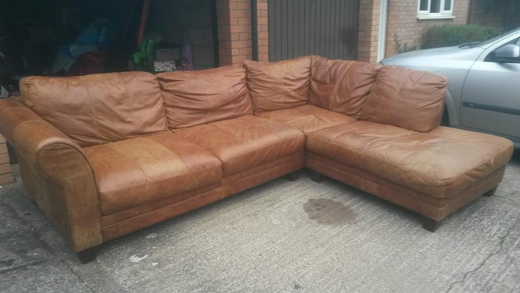 Dfs Savoy Tan Leather Corner Sofa | In Newport | Gumtree Throughout Savoy Sofas (Image 11 of 20)