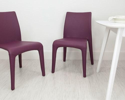 Dining Chairs Throughout Best And Newest Purple Faux Leather Dining Chairs (View 3 of 20)