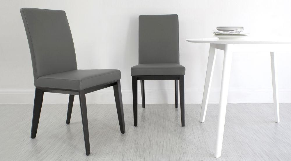 Dining Chairs With Grey Legs – Thesecretconsul Regarding Grey Leather Dining Chairs (View 19 of 20)