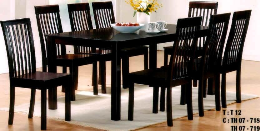 Dining Elegant Round Dining Table Black Dining Table In 8 Seater Throughout Recent Black 8 Seater Dining Tables (Image 11 of 20)